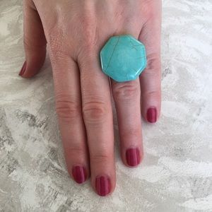 Jewelry - Faux Turquoise Adjustable Ring
